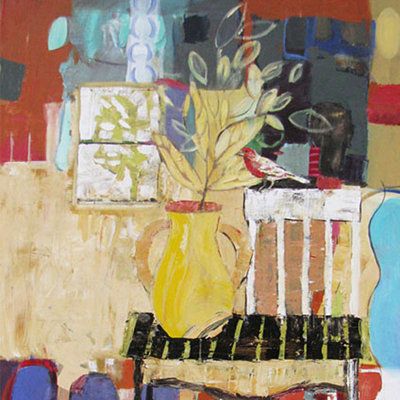 abstract painting titled Interior Patterns
