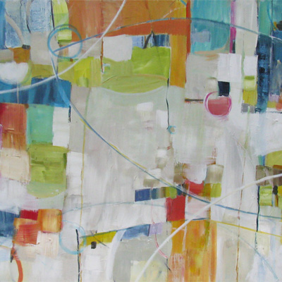 abstract painting titled Replenishment