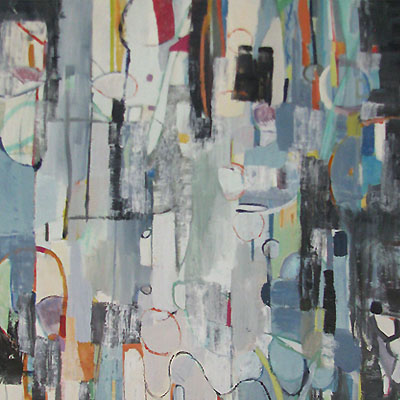 abstract painting titled Sea Fragments