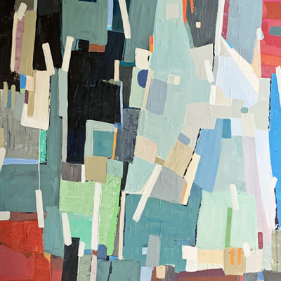abstract painting titled Puzzle II
