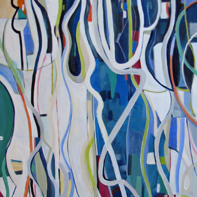 abstract painting titled Twist and Shout