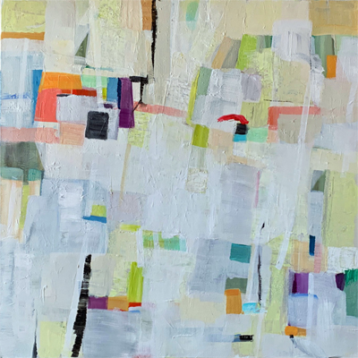 abstract painting titled Upbeat 1