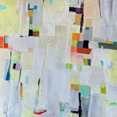 abstract painting titled Upbeat 2